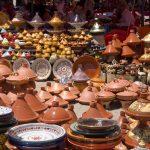 Morocco market pottery