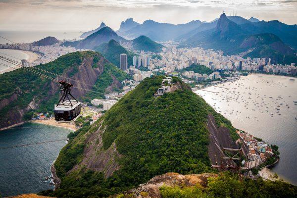 View from Sugarloaf Mountain Brazil Rio de Janeiro